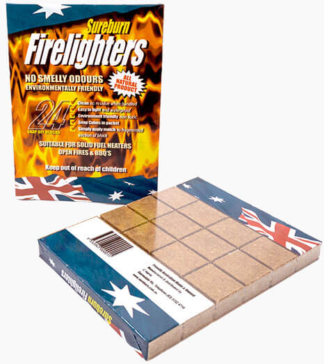 sureburn firelighters brick camping heater